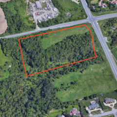 Aerial View of 0 Teston Road parcel outline