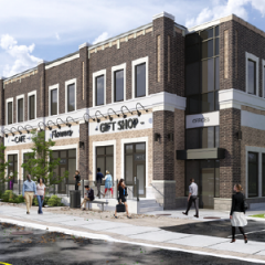Rendering of New Retail Building at 2 Campbell Street in Brooklin, Ontario